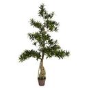 Vickerman TB180848 4' Potted Podocarpus Tree 2370Lvs