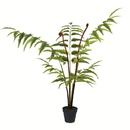 Vickerman TB191130 3' Potted Leather Fern 78 Leaves