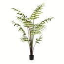 Vickerman TB191150 5' Potted Leather Fern 180 Leaves