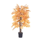 Vickerman TBU2240-06 4' Golden Aspen Bush in Blk Pot