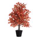 Vickerman 4' Orange Maple Bush in Basket