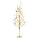 Vickerman X167551 5' Gold Tree LED336 WmWht Flat Base