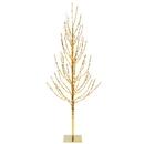 Vickerman X167581 8' Gold Tree LED800 WmWht Flat Base