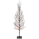 Vickerman X167861 6' Brown Tree LED560 Orange Flat Base