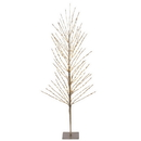 Vickerman X168051 5' Champagne Tree LED336 WmWht Flat Base