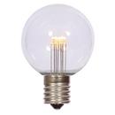 Vickerman XG50T11 G50 LED WmWht Transp Bulb E17 Nk Base
