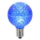 Vickerman XLED17G52-10 G50 Faceted LED Blue Bulb E17 .45W 10/Bx