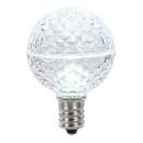 Vickerman XLED17G55-10 G50 Faceted LED Cool White E17 .45W 10/B