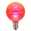 Vickerman XLED17G59-10 G50 Faceted LED Pink Bulb E17 .45W 10/Bx