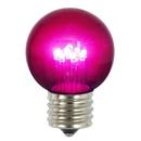 Vickerman XLED2656 G50 LED Purple E26 Glass Bulb 5/Box .9W