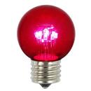 Vickerman XLED2659 G50 LED Pink E26 Glass Bulb 5/Box .9W
