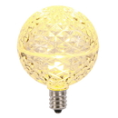 Vickerman XLED5G51 G50 Warm White Faceted LED Bulbs 5 Pack
