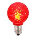 Vickerman XLEDG33-25 G30 Faceted LED Red Bulb E12 .38W 25ea
