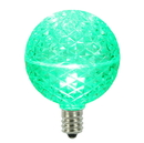 Vickerman XLEDG54-10 G50 Faceted LED Green Bulb E12 .38W 10ea