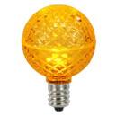 Vickerman XLEDG67-25 G50 Faceted LED Yellow Bulb E17 25ea