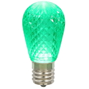 Vickerman XLEDS14 11S14 Faceted LED Green Lamp E26