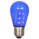 Vickerman XS14P02 S14 LEDBlue Transp Bulb E26 Nk Base