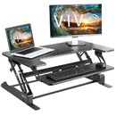 VIVO Height Adjustable Standing Desk Monitor Riser Tabletop Sit to Stand
