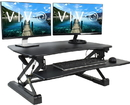 VIVO DESK-V000DB Deluxe Height Adjustable Standing Tabletop Desk Monitor Sit to Stand Black