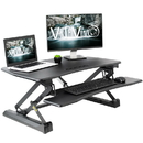 VIVO DESK-V000EB Black Electric Height Adjustable Standing Desk Tabletop Monitor Sit Stand
