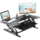 VIVO DESK-V000VL Black Height Adjustable Extra Wide 42