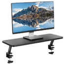 VIVO Black Clamp-on Desk Shelf - Monitor Laptop Riser Desk Organizer