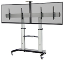 VIVO STAND-TV12H Ultra Heavy Duty Mobile Cart Dual TV Stand - Fits Two 37