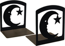Village Wrought Iron BE-2 Moon & Star - Book Ends
