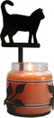 Village Wrought Iron C-LJS-6 Cat - Large Jar Sconce