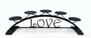 Village Wrought Iron C-PLB-272 Love - Table Top Pillar Candle Holder
