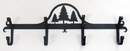 Village Wrought Iron CB-20 Pine Trees - Coat Bar