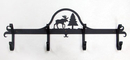 Village Wrought Iron CB-22 Moose & Pine - Coat Bar