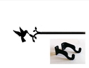 Village Wrought Hummingbird Curtain Rod (Hardware is INCLUDED)