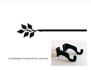 Village Wrought Iron CUR-76-35-S Leaf Curtain Rod - SM (Hardware is INCLUDED)