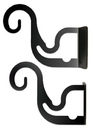 Village Wrought Iron CUR-BRAC-DT Curtain Brackets For Two or Three 1/2 Inch Rods