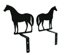 Village Wrought Iron CUR-S-68 Standing Horse - Curtain Swags