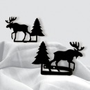 Village Wrought Iron CUR-TB-22 Moose & Pine - Curtain Tie Backs