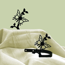 Village Wrought Iron CUR-TB-38 Butterfly - Curtain Tie Backs
