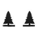 Village Wrought Iron CUR-TB-42 Pine Tree - Curtain Tie Backs