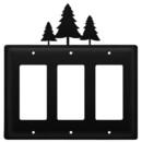 Village Wrought Iron EGGG-20 Pine Trees - Triple GFI Cover