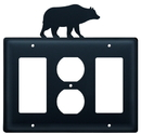 Village Wrought Iron EGOG-14 Bear - Single GFI, Outlet and GFI Cover