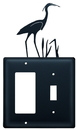 Village Wrought Iron EGS-133 Heron - Single GFI and Switch Cover