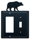 Village Wrought Iron EGS-14 Bear - Single GFI and Switch Cover