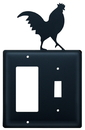 Village Wrought Iron EGS-1 Rooster - Single GFI and Switch Cover