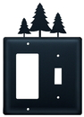 Village Wrought Iron EGS-20 Pine Trees - Single GFI and Switch Cover