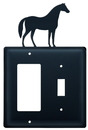 Village Wrought Iron EGS-68 Horse - Single GFI and Switch Cover