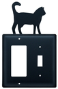 Village Wrought Iron EGS-6 Cat - Single GFI and Switch Cover