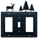 Village Wrought Iron EGSG-203 Deer & Pine Trees - Single GFI, Switch and GFI Cover