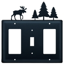 Village Wrought Iron EGSG-22 Moose & Pine Trees - Single GFI, Switch and GFI Cover
