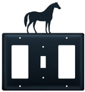 Village Wrought Iron EGSG-68 Horse - Single GFI, Switch and GFI Cover